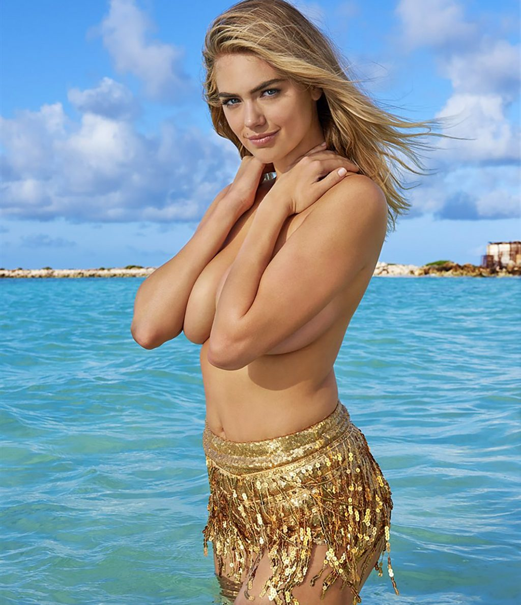 kate upton topless behind the scene of photoshoot