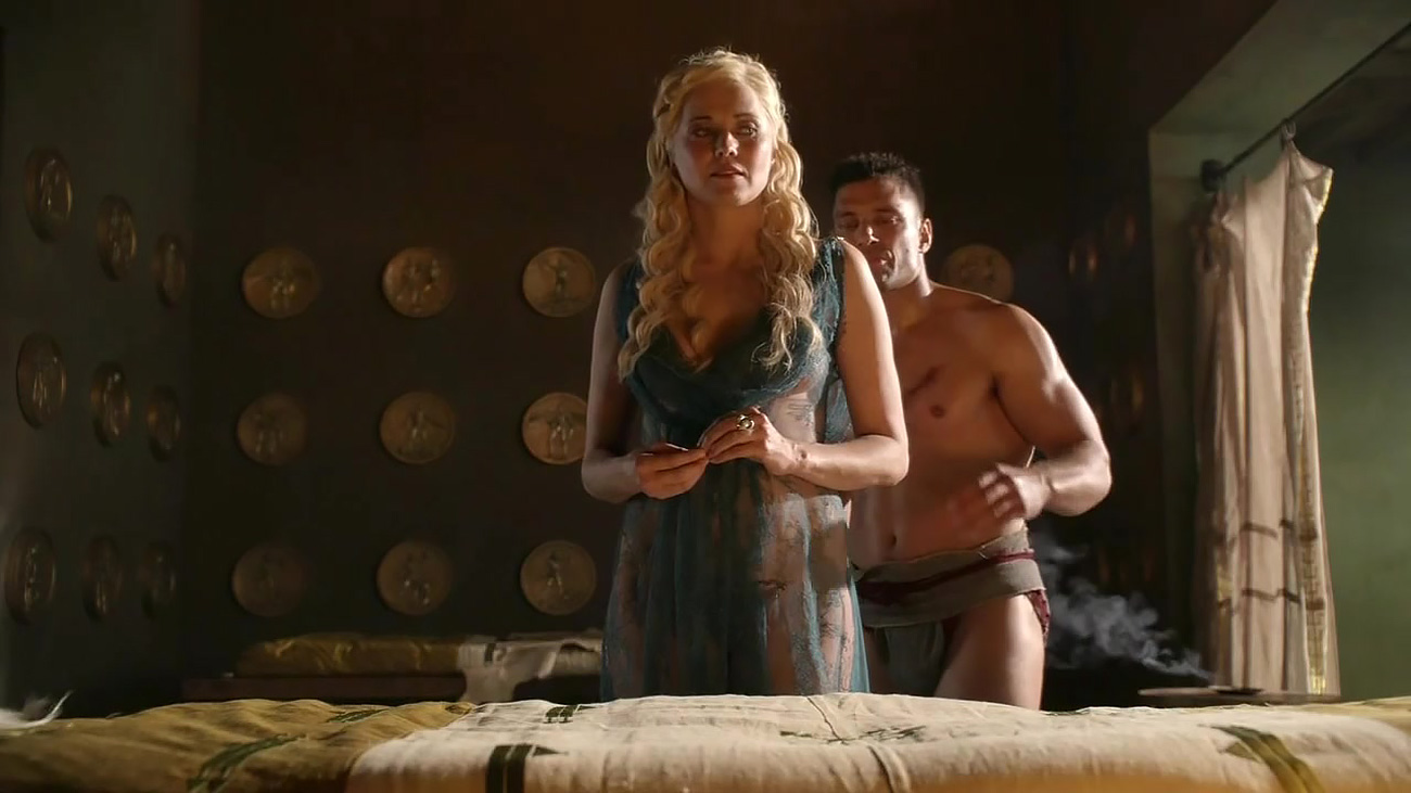 lucy lawless perky nipples and sex from spartacus blood
