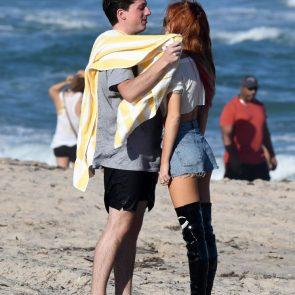 Bella Thorne cuddles with boyfriend