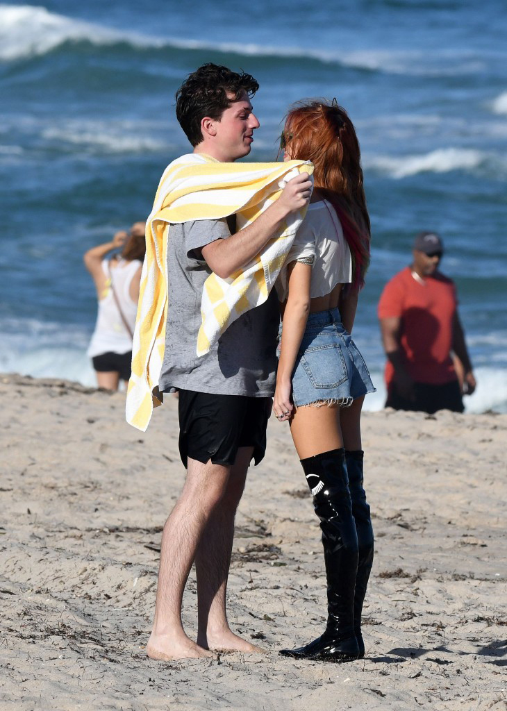 Bella Thorne cuddles with boyfriend