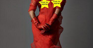Christina Milian see through red dress