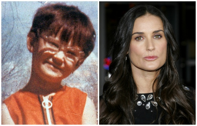 Demi Moore young and today