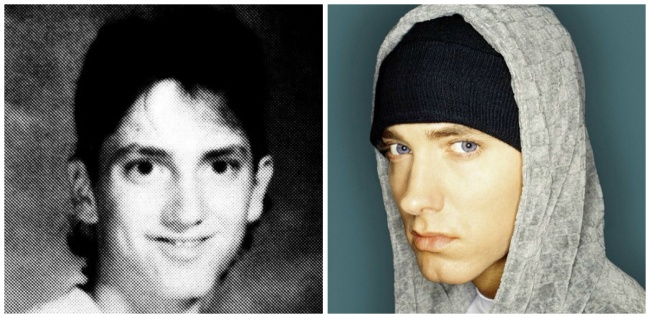 Eminem young and today