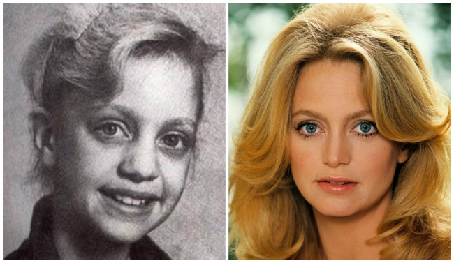 Goldie Hawn young and today