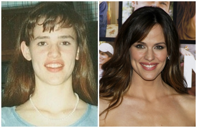 Jennifer Garner young and today