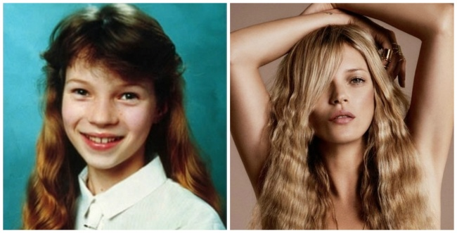 Kate Moss young and today