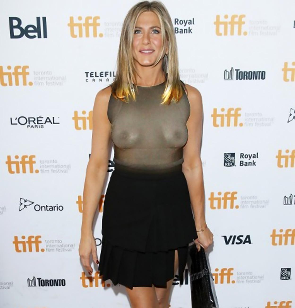 Jennifer aniston dons sexy black bra, gets fun and flirty with wanderlust co