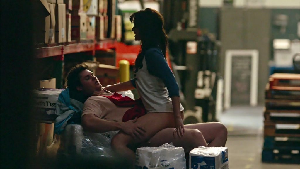 frankie shaw crazzy sex scene in store fron smilf