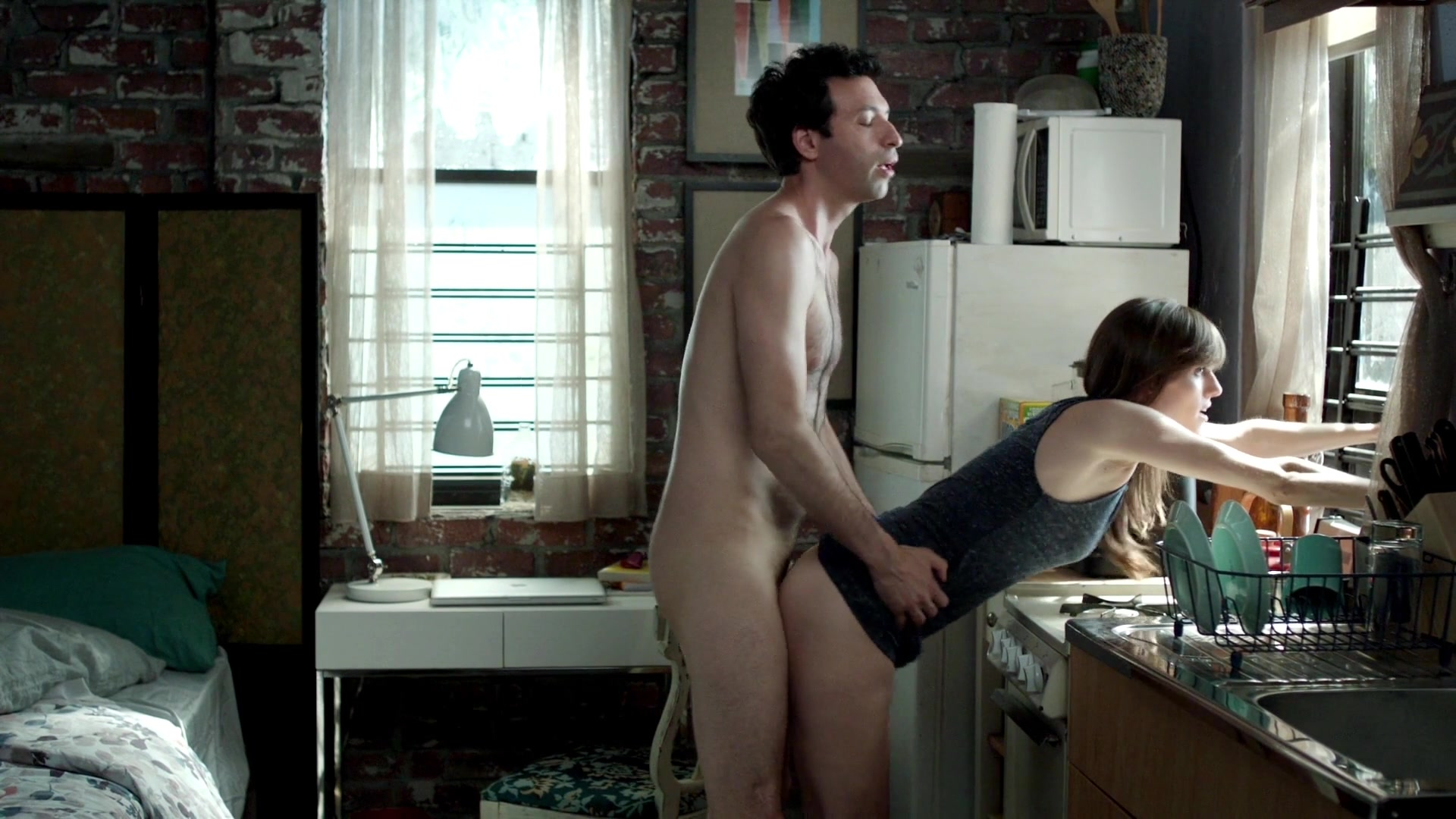 Allison Williams Doggy Style Sex In The Kitchen From Girls ...