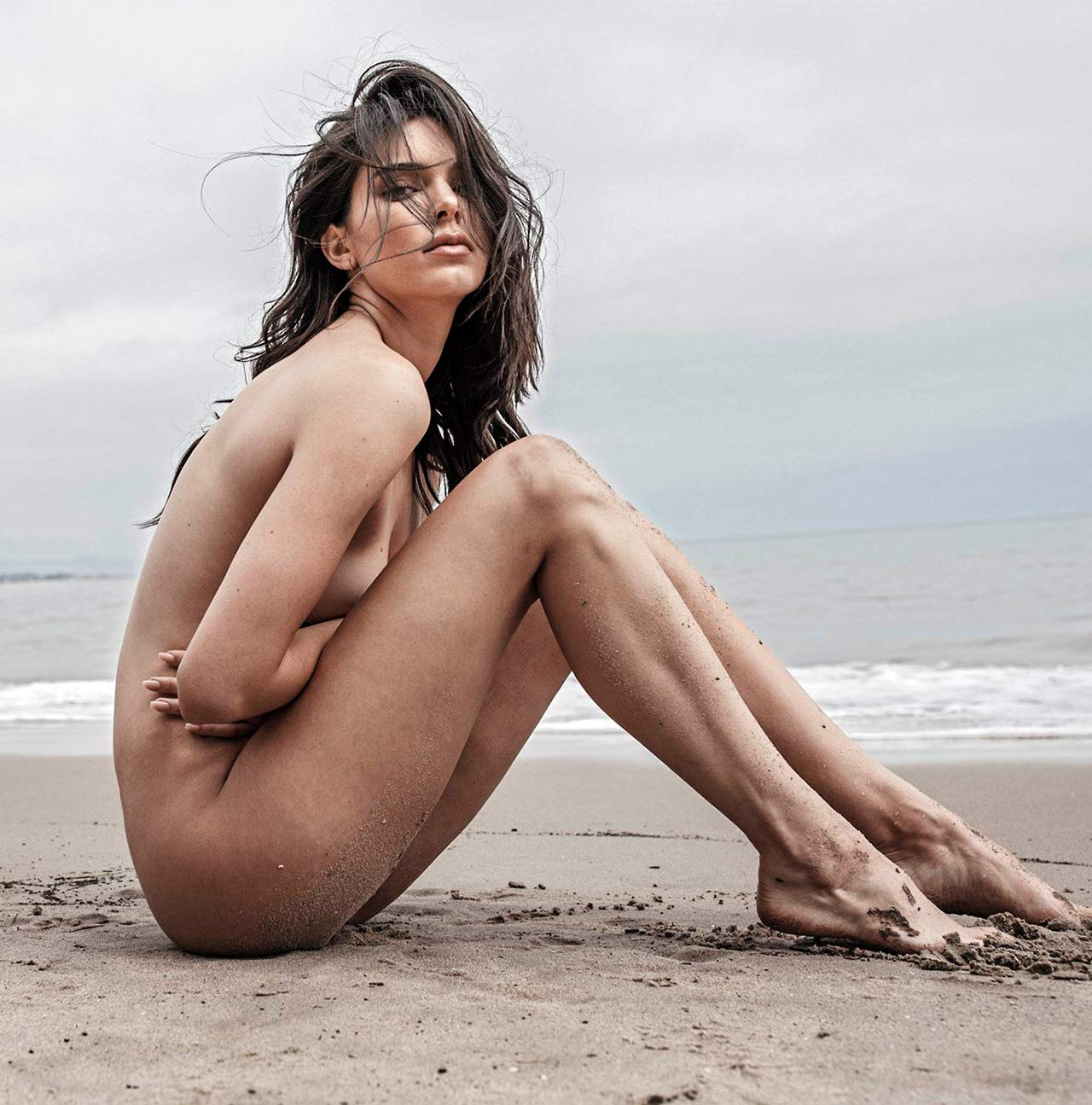 Kendall Jenner Leaked Beach Nudes For Angels Campaign -7838