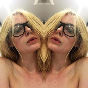 Elle Fanning topless selfie