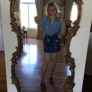 Elle Fanning naked long legs