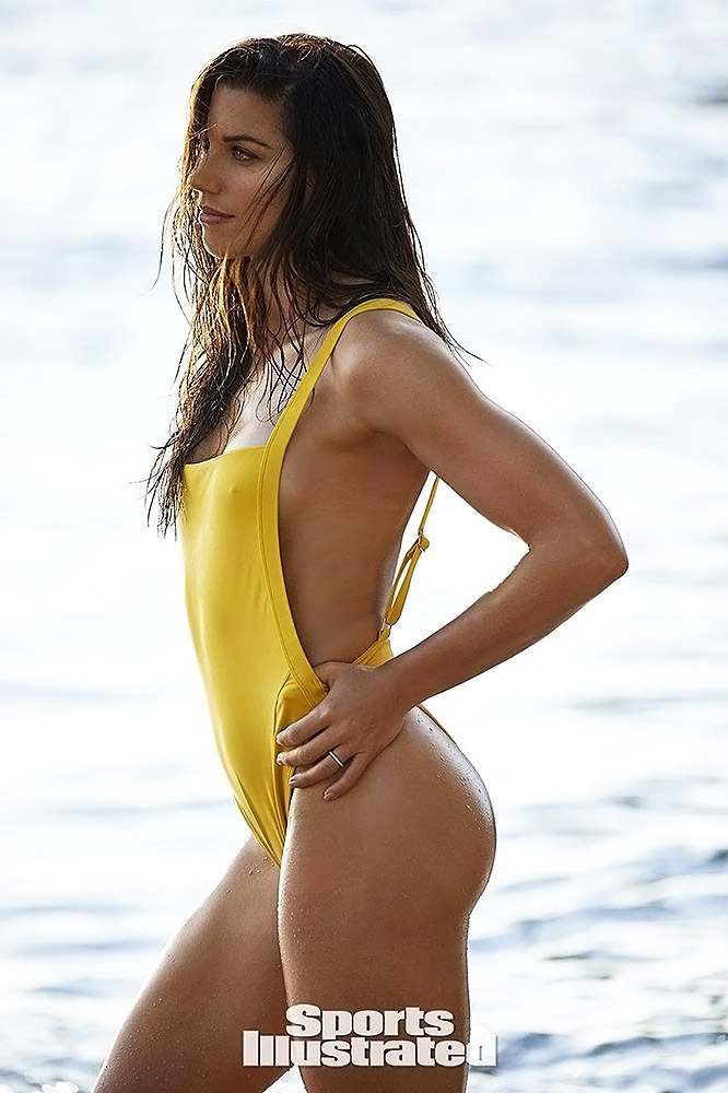Alex Morgan yellow swimwear