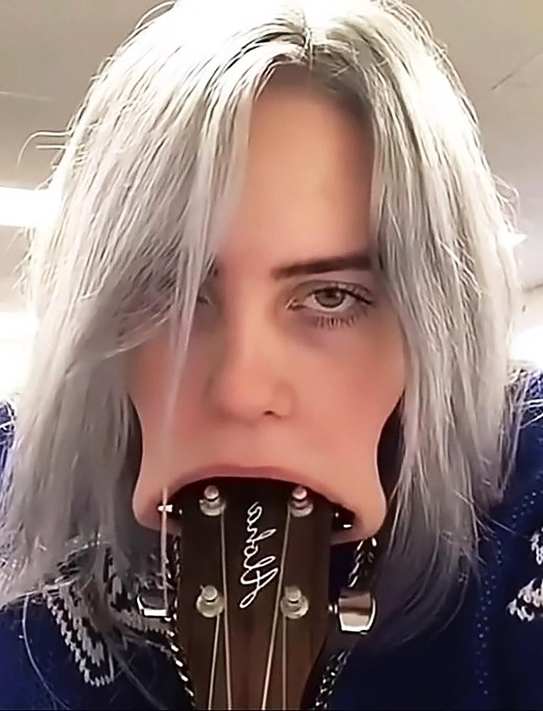 Billie Eilish hot selfie