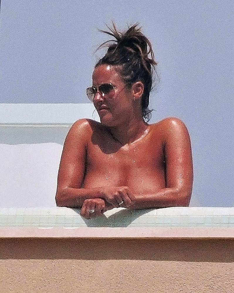 Caroline Flack topless
