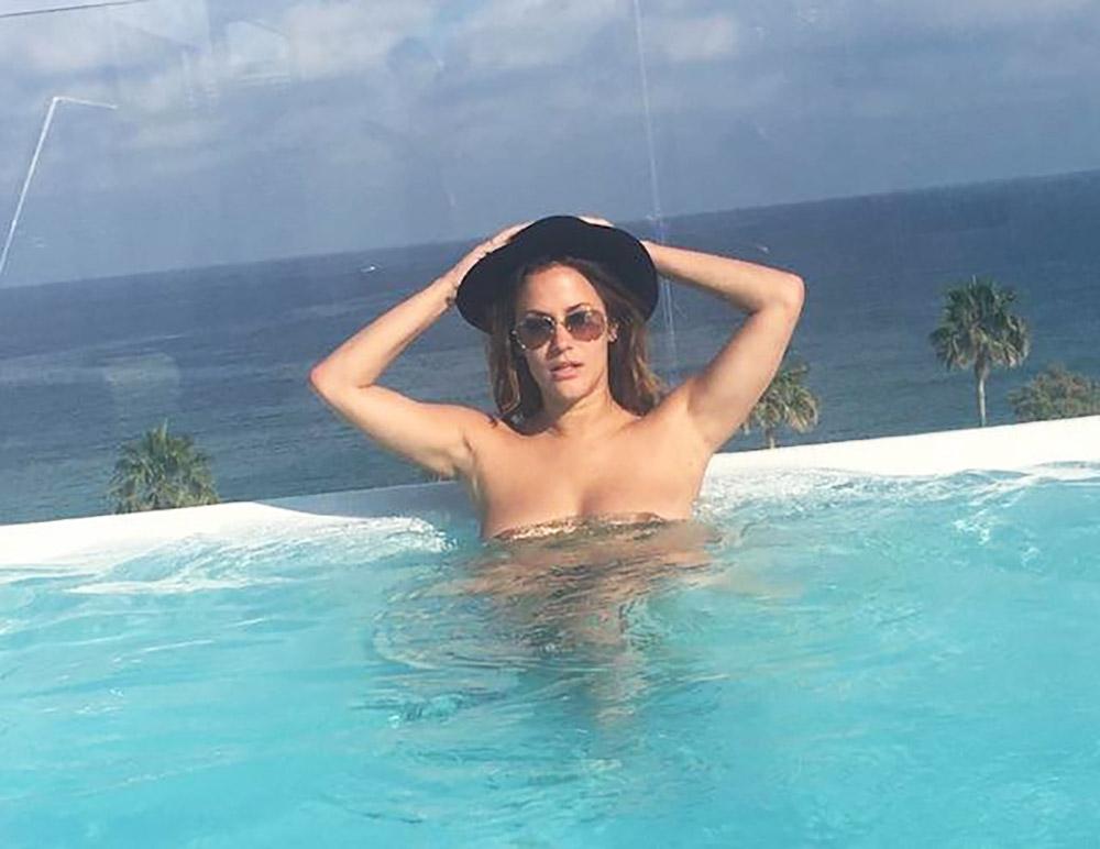 Caroline Flack naked in pool