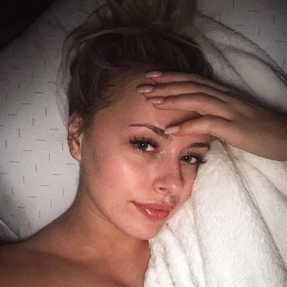 Corinna Kopf leaked selfie from bed