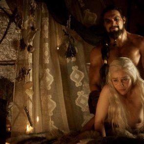 Emilia Clarke sex in doggy