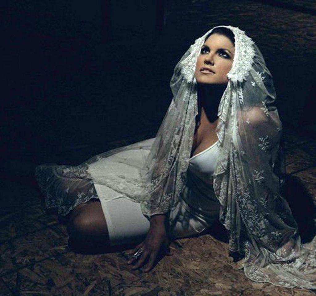 Gina Carano as a bride