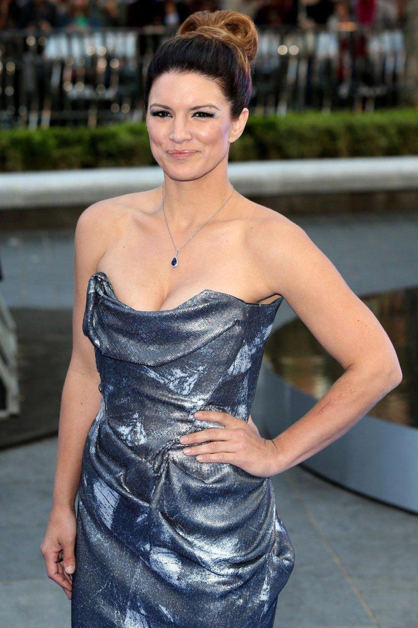 Gina Carano hot silver dress