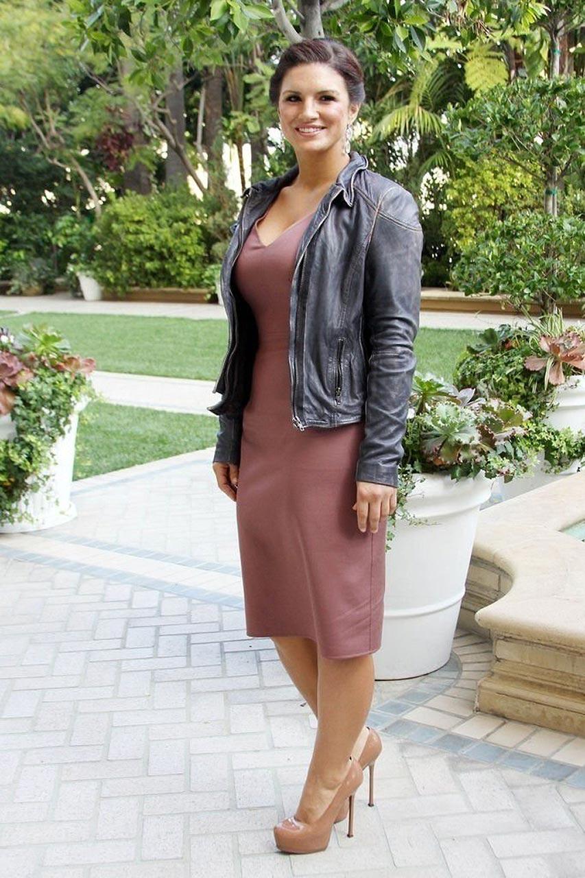 Gina Carano pink dress