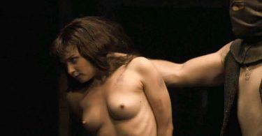 Jessica Barden nude tits in scene