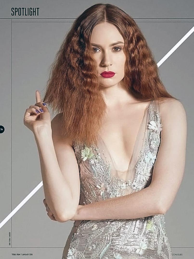 Karen Gillan cleavage