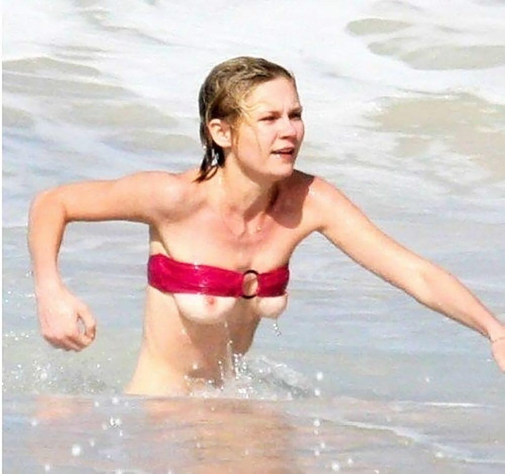 Kirsten Dunst nip slip