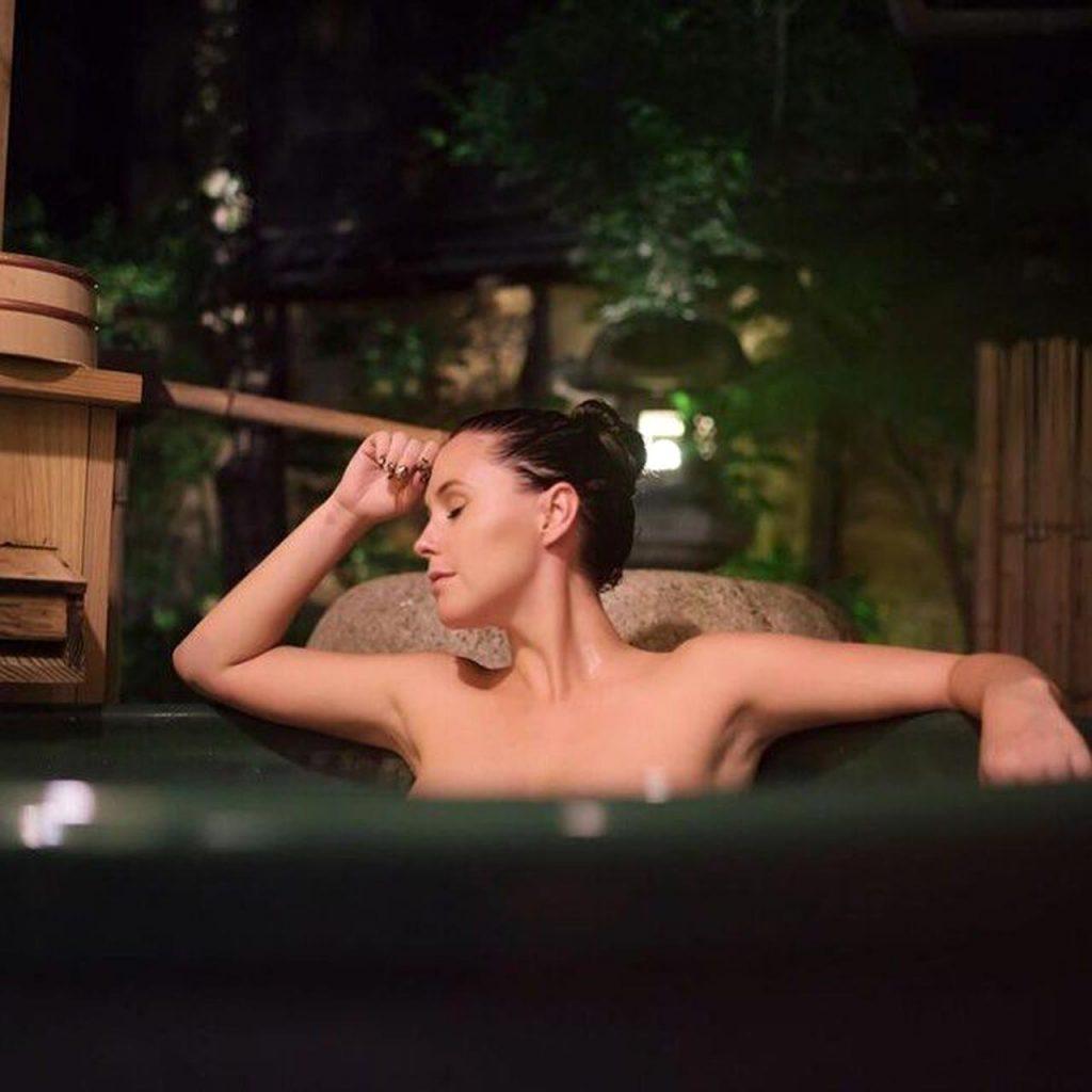 Meg Turney topless in bath tub