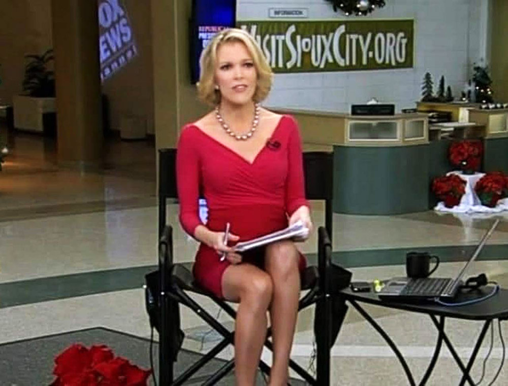 Megyn Kelly hot red dress