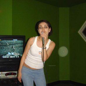 Mila Kunis partying
