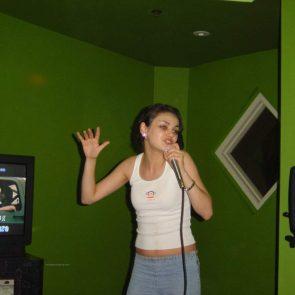 Mila Kunis hot while dancing and singing