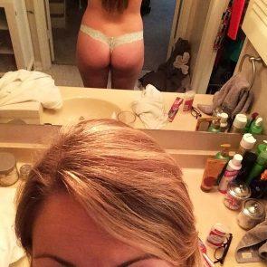 Nicola Peltz topless from behind
