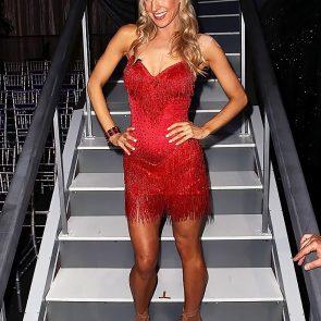 Nikki Glaser sexy red dress