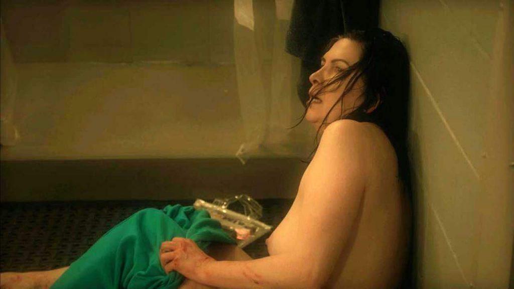 Pamela Rabe topless scene
