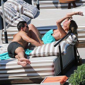 Rhian Sugden topless in public