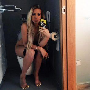 Tana Mongeau naked on toilet
