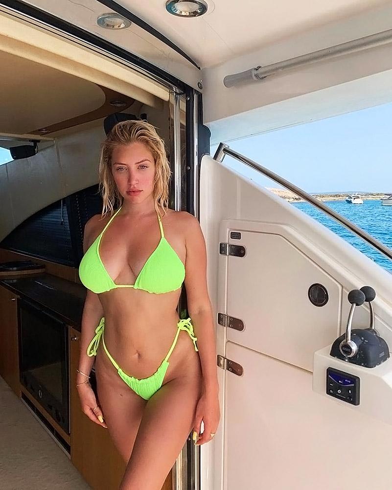 Anastasia Karanikolaou green bikini