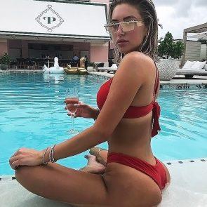 Anastasia Karanikolaou red bikini