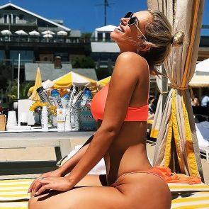 Anastasia Karanikolaou orange bikini