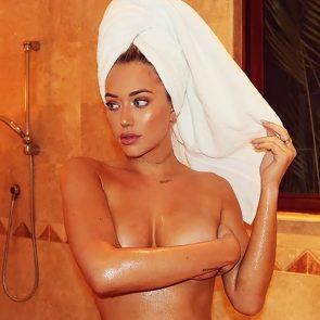 Anastasia Karanikolaou naked with towel around head