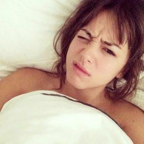 Chloe Bennett nude in bed