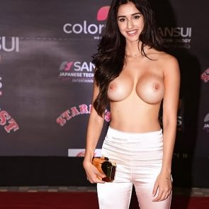 Disha Patani nude boobs on red carpet
