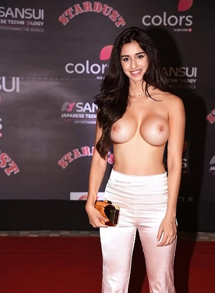 Disha Patani nude boobs on red carpet
