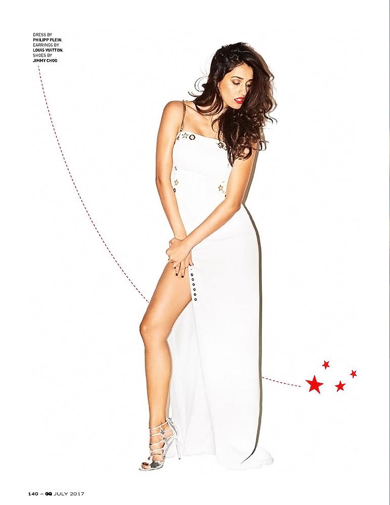 Disha Patani white dress and slit