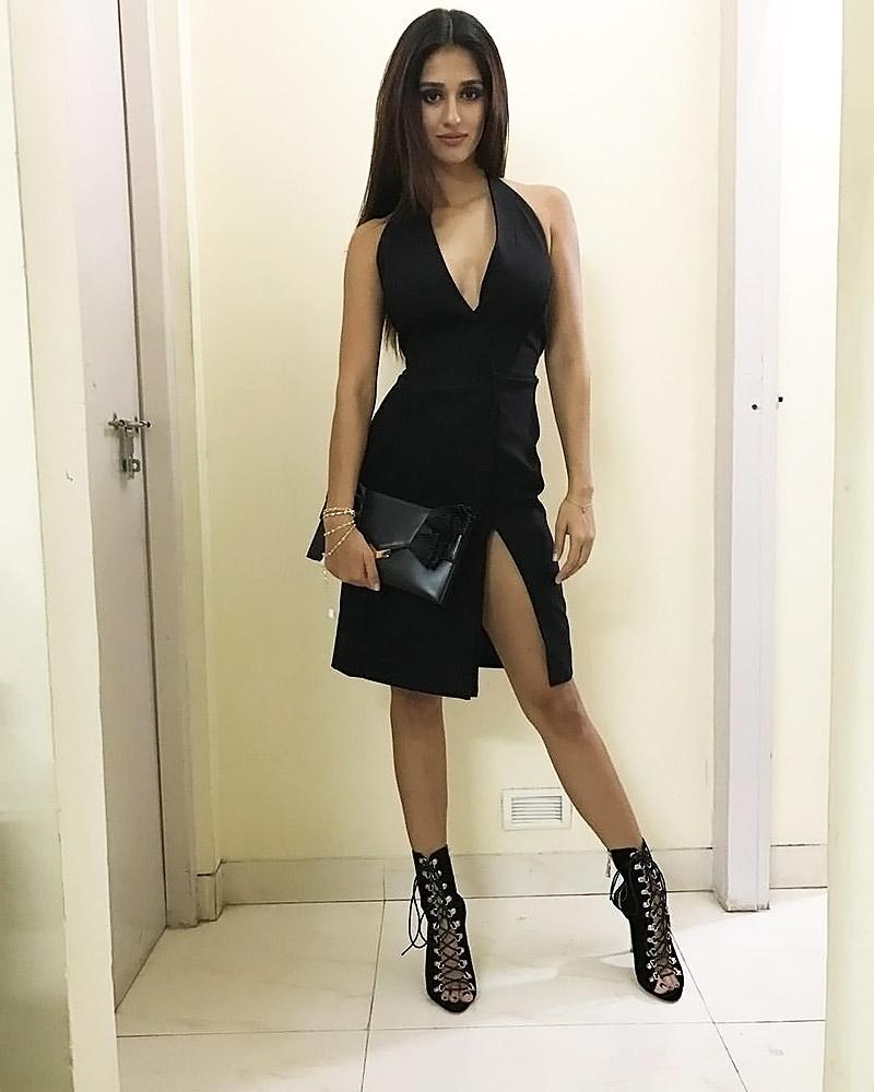 Disha Patani black dress
