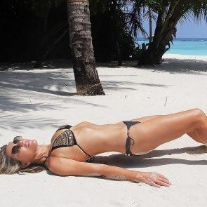 Elizabeth Hurley black bikini