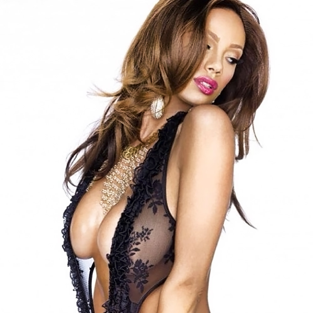 Erica Mena naked tits in see thru