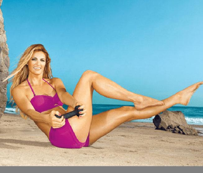 Erin Andrews naked fitness on beach