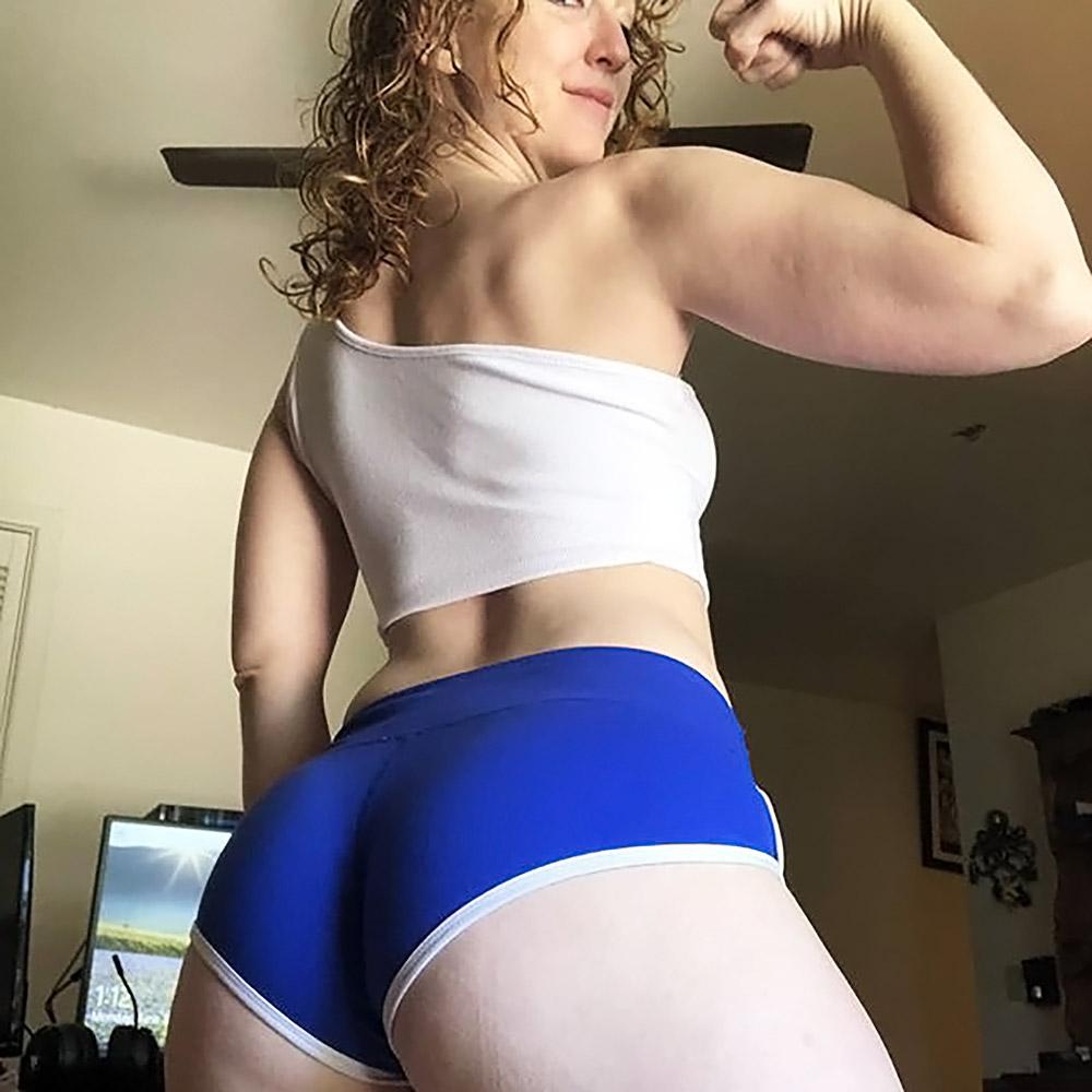 Bikini Ifrit blue shorts